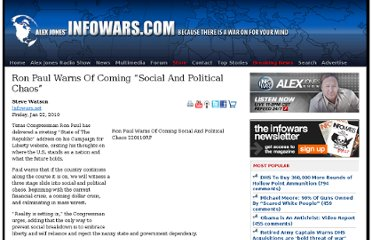 http://www.infowars.com/ron-paul-warns-of-coming-social-and-political-chaos/
