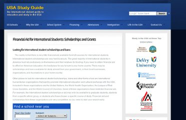 http://www.usastudyguide.com/international-student-scholarships-and-financial-aid.htm