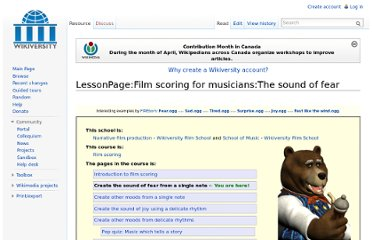 http://en.wikiversity.org/wiki/LessonPage:Film_scoring_for_musicians:The_sound_of_fear