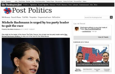http://www.washingtonpost.com/blogs/election-2012/post/michele-bachmann-is-urged-by-tea-party-leader-to-quit-the-race/2011/10/28/gIQAncqUPM_blog.html