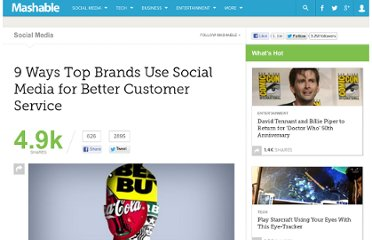 http://mashable.com/2011/10/28/social-customer-service-brands/