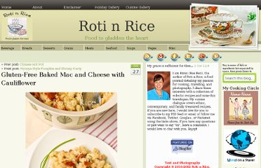 http://www.rotinrice.com/2011/10/gluten-free-baked-mac-and-cheese-with-cauliflower/