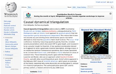 http://en.wikipedia.org/wiki/Causal_dynamical_triangulation