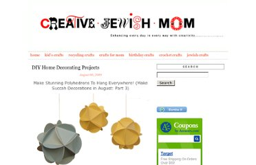 http://www.creativejewishmom.com/diy-home-decorating-projects/page/4/
