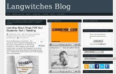 http://langwitches.org/blog/2011/10/29/learning-about-blogs-for-your-students-part-i-reading/
