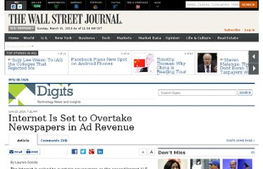 http://blogs.wsj.com/digits/2010/06/15/internet-is-set-to-overtake-newspapers-in-ad-revenue/