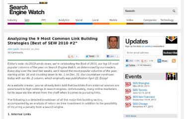 http://searchenginewatch.com/article/2064719/Analyzing-the-9-Most-Common-Link-Building-Strategies-Best-of-SEW-2010-2