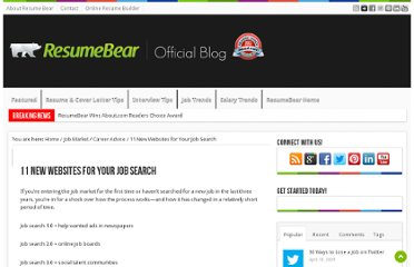 http://blog.resumebear.com/college-graduates/11-new-websites-for-your-job-search/