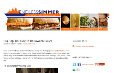 http://www.endlesssimmer.com/2009/10/13/our-top-10-favorite-halloween-cakes/