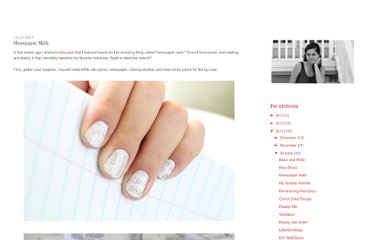 http://loveisthethingwithwings.blogspot.com/2011/10/newspaper-nails.html
