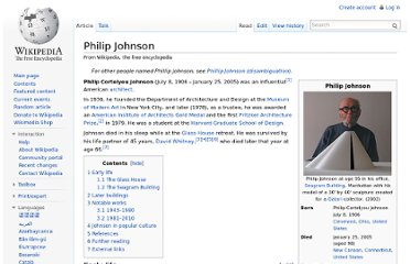 http://en.wikipedia.org/wiki/Philip_Johnson