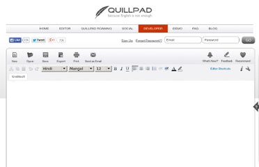http://www.quillpad.in/editor.html