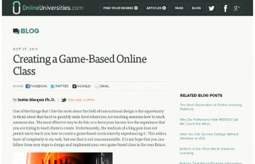 http://www.onlineuniversities.com/blog/2011/10/creating-a-game-based-online-class/