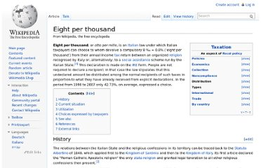 http://en.wikipedia.org/wiki/Eight_per_thousand