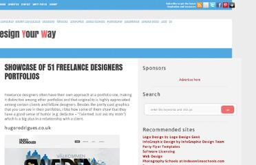 http://www.designyourway.net/blog/inspiration/showcase-of-51-freelance-designers-portfolios/
