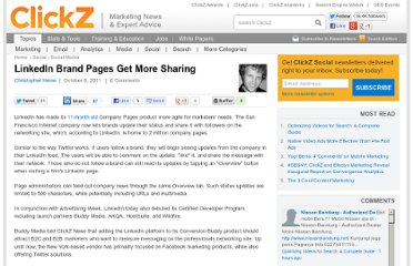 http://www.clickz.com/clickz/news/2115344/linkedin-brand-pages-sharing