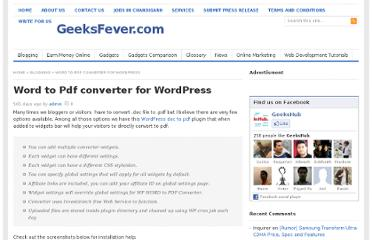 http://www.geeksfever.com/word-to-pdf-converter-for-wordpress/