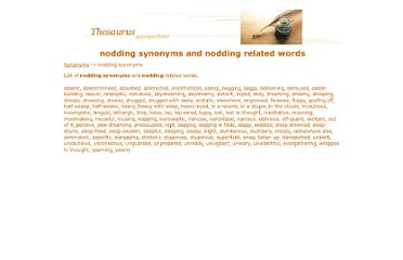 http://www.synonyms.ca/nodding-synonyms.htm