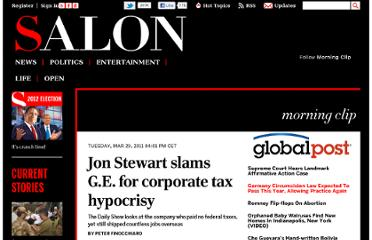 http://www.salon.com/2011/03/29/daily_show_ge_corporate_taxes/
