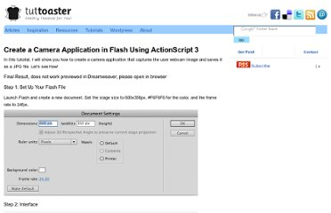 http://www.tuttoaster.com/create-a-camera-application-in-flash-using-actionscript-3/
