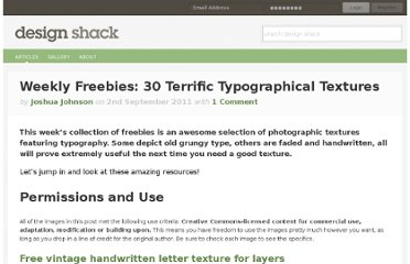 http://designshack.net/articles/freebies/weekly-freebies-30-terrific-typographical-textures/