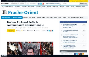 http://www.lemonde.fr/proche-orient/article/2011/10/30/bachar-al-assad-defie-la-communaute-internationale_1596168_3218.html