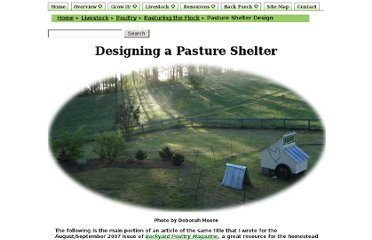 http://www.themodernhomestead.us/article/Pasture+Shelter+Design.html