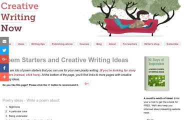 http://www.creative-writing-now.com/poem-starters.html
