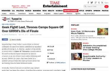 http://entertainment.time.com/2011/04/05/geek-fight-lost-thrones-camps-square-off-over-grrms-dis-of-finale/