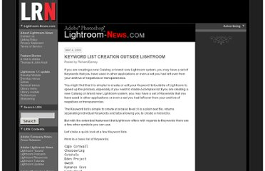 http://lightroom-news.com/2009/05/04/keyword-list-creation-outside-lightroom/