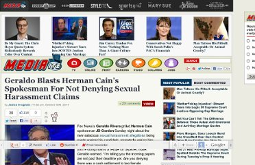 http://www.mediaite.com/tv/geraldo-blasts-herman-cains-spokesman-during-call-in-for-not-denying-sexual-harassment-claims/
