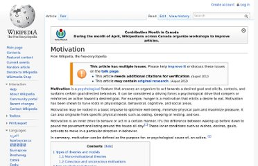 http://en.wikipedia.org/wiki/Motivation