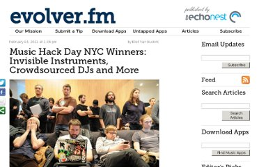 http://evolver.fm/2011/02/14/music-hack-day-nyc-winners-invisible-instruments-crowdsourced-djs-and-more/