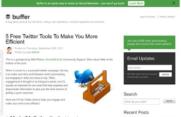 http://blog.bufferapp.com/5-free-twitter-tools-to-make-you-more-efficient