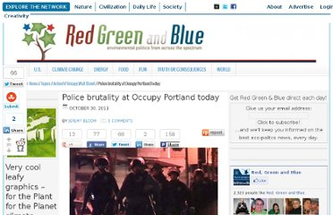 http://redgreenandblue.org/2011/10/30/police-brutality-at-occupy-portland-today/