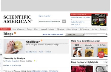 http://blogs.scientificamerican.com/oscillator/2011/10/28/diversity-by-design/