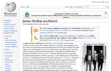 http://en.wikipedia.org/wiki/James_Stirling_(architect)