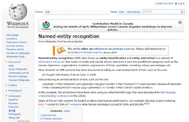 http://en.wikipedia.org/wiki/Named-entity_recognition