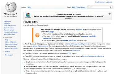 http://en.wikipedia.org/wiki/Flash_CMS