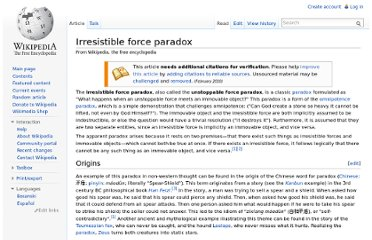 http://en.wikipedia.org/wiki/Irresistible_force_paradox