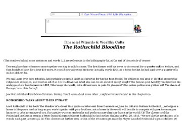 http://www.theforbiddenknowledge.com/hardtruth/the_rothschild_bloodline.htm
