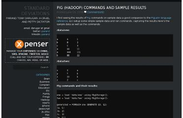http://parand.com/say/index.php/2008/06/19/pig-hadoop-commands-and-sample-results/
