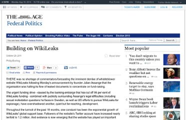 http://www.theage.com.au/opinion/building-on-wikileaks-20111028-1mo38.html