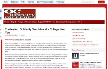 http://occupycolleges.org/2011/10/27/solidarity-teach-ins-at-a-college-near-you/