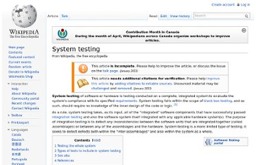 http://en.wikipedia.org/wiki/System_testing#Types_of_tests_to_include_in_system_testing