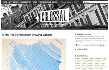 http://www.thisiscolossal.com/2011/06/sandy-nobles-polargraph-drawing-machine/