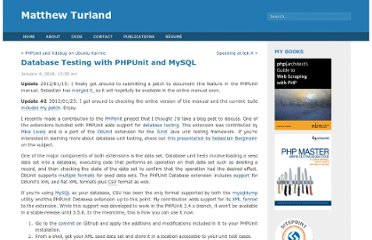 http://matthewturland.com/2010/01/04/database-testing-with-phpunit-and-mysql/