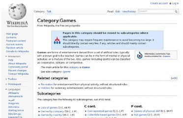 http://en.wikipedia.org/wiki/Category:Games