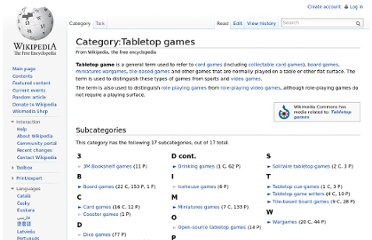http://en.wikipedia.org/wiki/Category:Tabletop_games