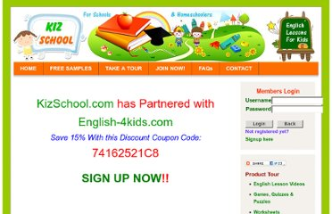 http://www.english-4kids.com/kizschool/Kids_Lessons.html